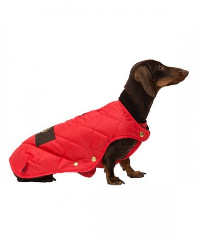 Abrigo impermeable acolchado rojo- Willy Red