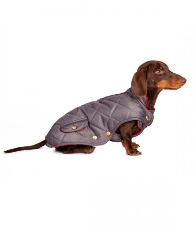 Abrigo impermeable acolchado gris- Willy Grey