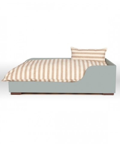Cama de madera gris