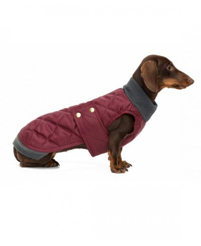 Parka impermeable granate con cuello de punto- Simon Wine