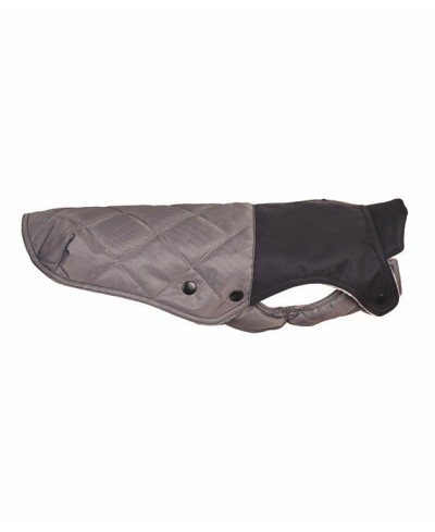 Grey quilted waterproof coat- Willy Sport