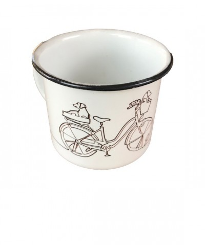 Enameled Steel Cup  Mod Bike