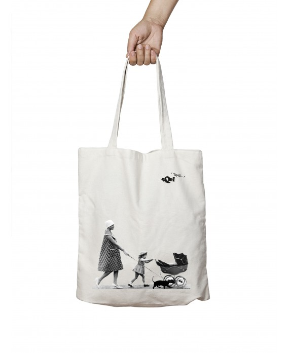 Tote Bag Dachshund Baby Cart
