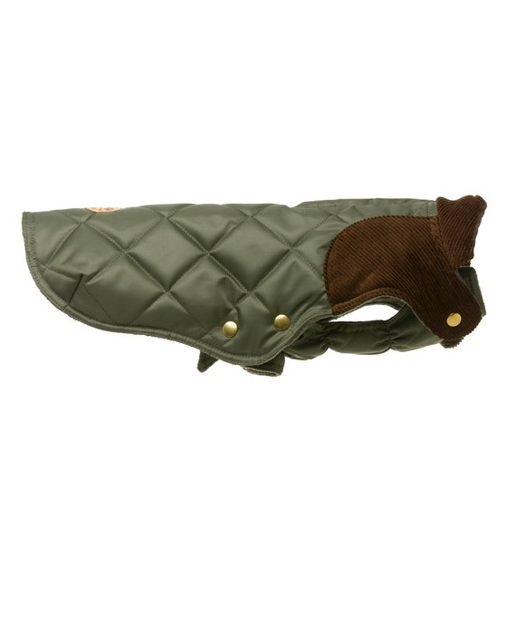 Olive quilted waterproof coat - Willy Olive