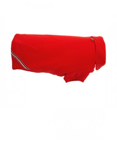 Classic red dog polo shirt