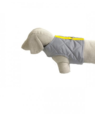 Grey quilted harness
