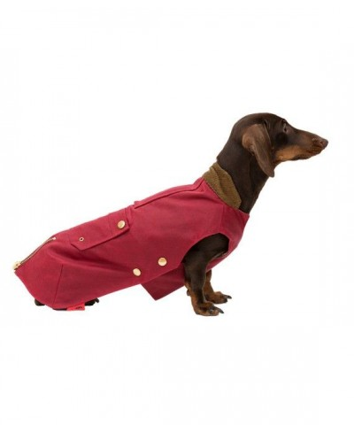 Dark red Barbour type