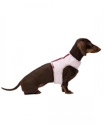 Pink quilted harness