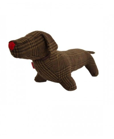 Deco Teckel dog  Tartan brown