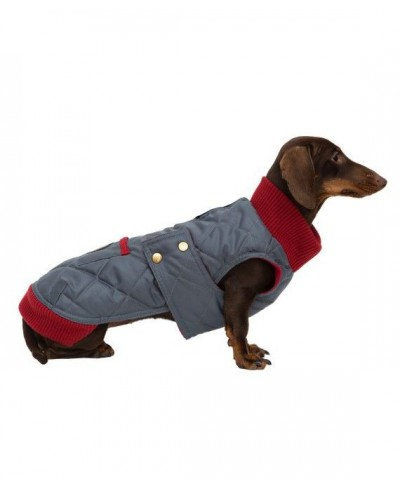Grey waterproof coat with knit collar - Simon Grey