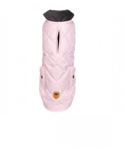 Pink quilted waterproof coat Willy Pink
