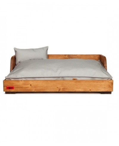 "Wood bed Chestnut. Cushion ""Lisos"""